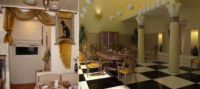 египетский стиль на кухне