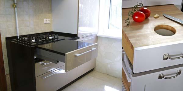 кухонная выдвижная разделочная доска