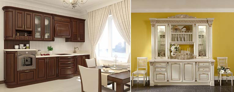 мебельные пилястры на кухне