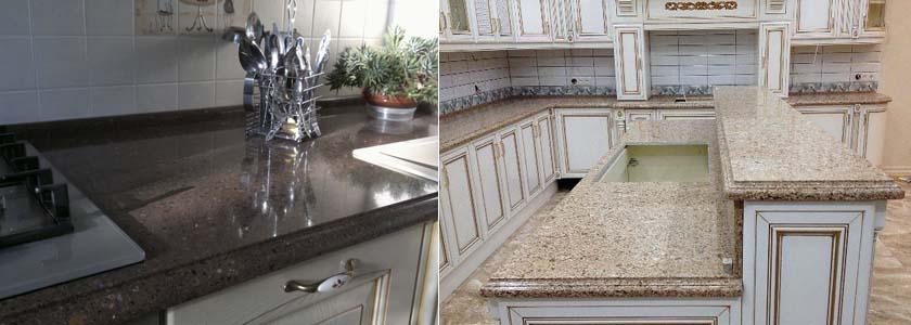 кварцевая столешница на кухне