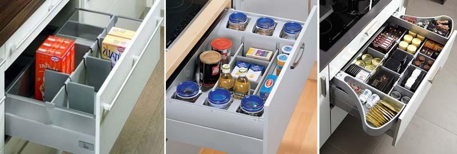 организация хранения в кухонных ящиках