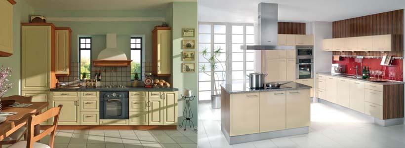 ванильный цвет на кухне