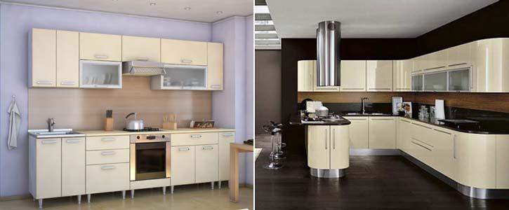 кухня ванильного цвета