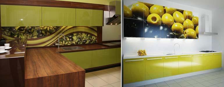 кухня в оливковых тонах