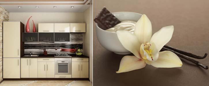 кухня цвета ванили