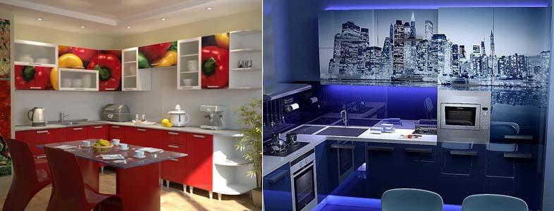 кухонные фасады с фотопечатью