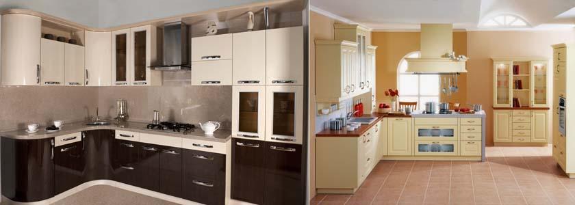 Кухни цвета ваниль фото