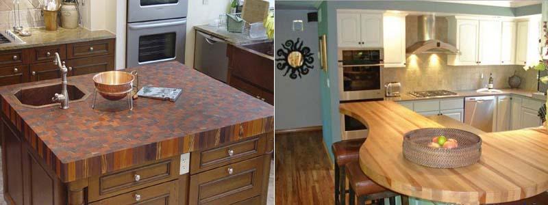 деревянные столешницы на кухне