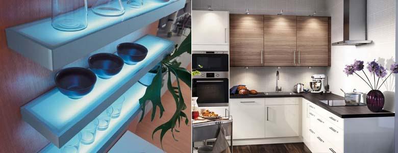 способы освещения кухни