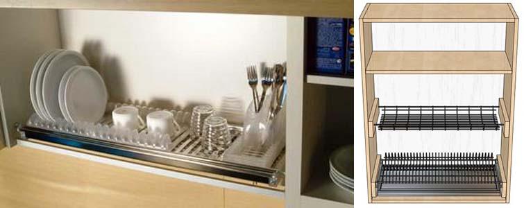встраиваемые кухонные сушилки