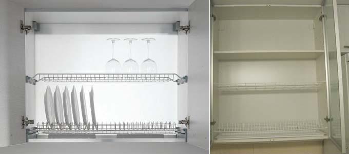 двухуровневые сушилки в шкафах