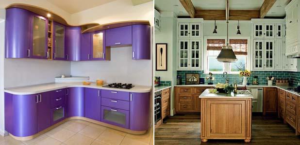 навесные шкафы на кухне