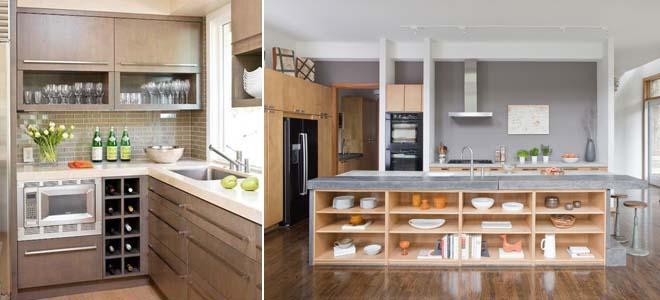 открытые конструкции на кухне