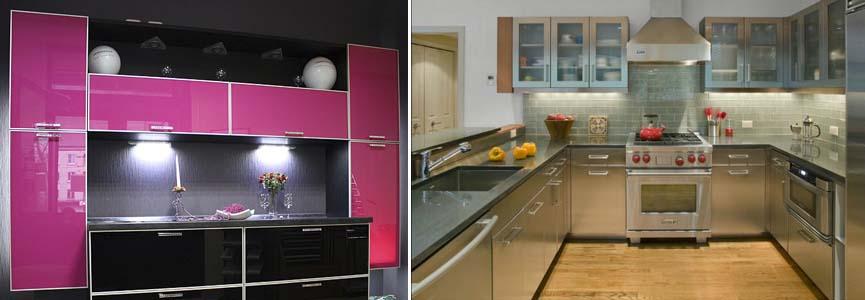 алюминиевые фасады на кухне