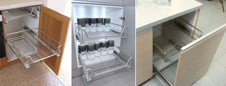 кухонные выдвижные корзины