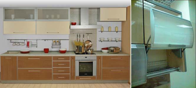 алюминиевые кухонные фасады