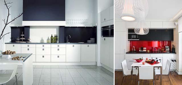 сочетания цветов на белой кухне