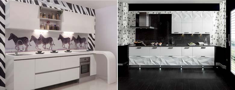 кухня чёрно-белого цвета