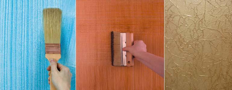 эффекты на поверхности стен