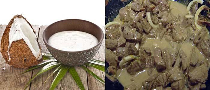 рецепт рагу из говядины с кокосом