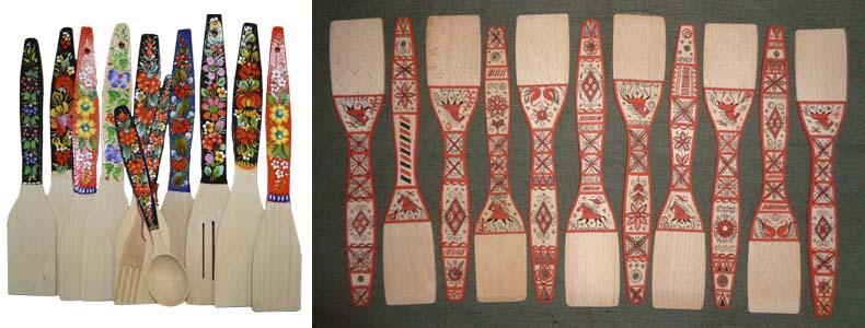декор деревянных лопаток