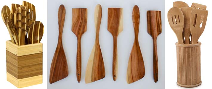 кухонные деревянные лопатки