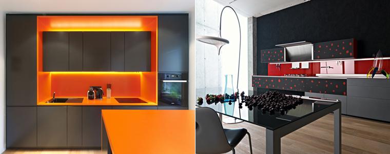 сочетания с чёрным цветом на кухне