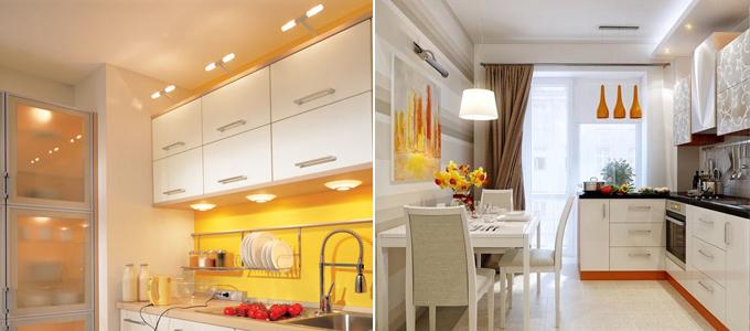 ремонт кухни освещение