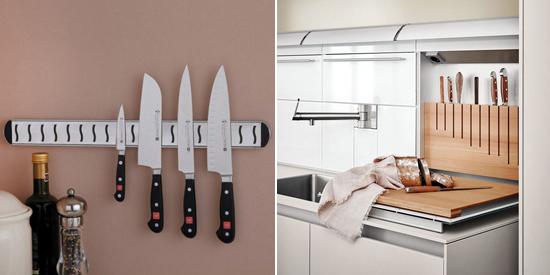 хранение ножей на фартуке
