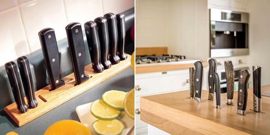 хранение ножей в столешнице